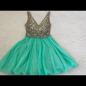Aqua Junior Prom Dress